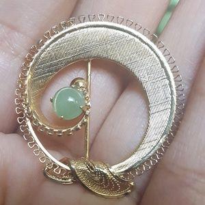 VINTAGE 12k gold filled brooch